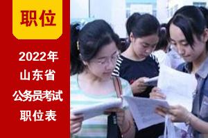 2022山东公务员考试职位表